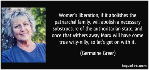 Germaine Greer, noted Feminist and one of the women who stole feminism.